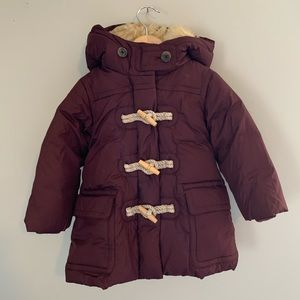 Crewcuts burgundy puffer coat SZ 2T